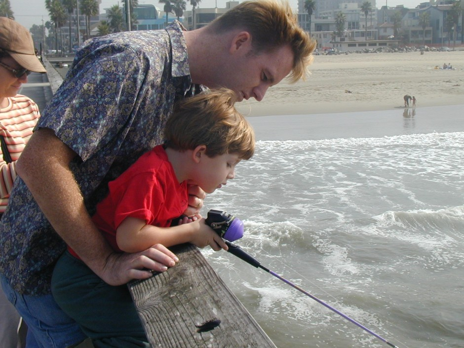 Tom and son, Venice Pier