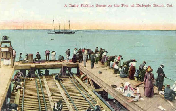 You ve got to love the old postcards redondo beach for Redondo beach pier fishing