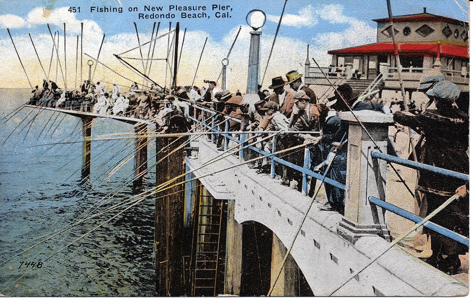Redondo pleasure pier 1923 for Redondo beach pier fishing