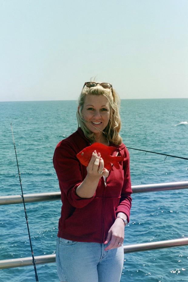 Garibaldi aka ocean goldfish don t keep em for Santa barbara fishing report