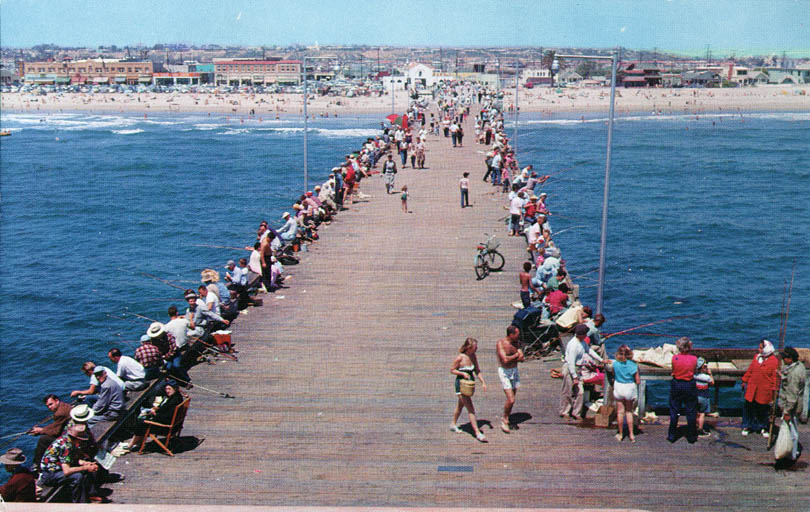 Newport pier 1960s for Newport pier fishing