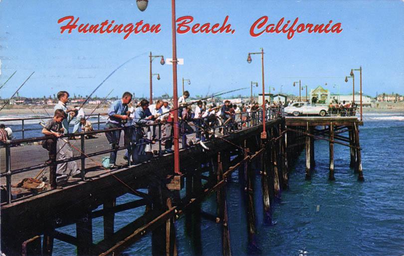 Hbpier 1960s 1 for Huntington beach pier fishing