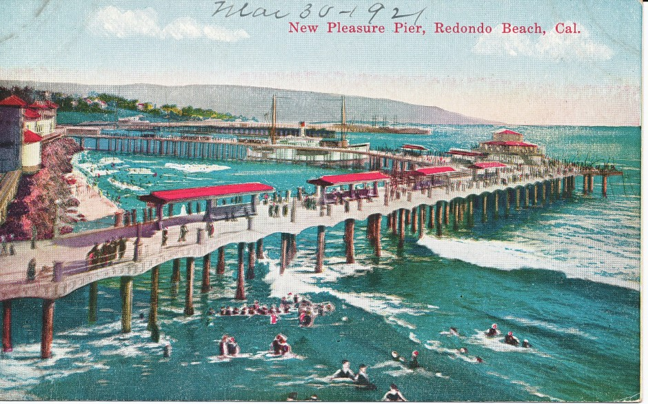 Redondo beach municipal pleasure and fishing pier the for Redondo beach pier fishing